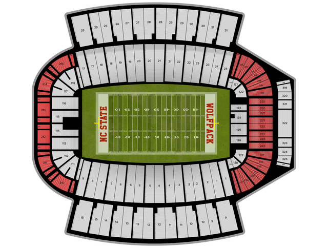 East Carolina Football at NC State Football at Carter-Finley Stadium on