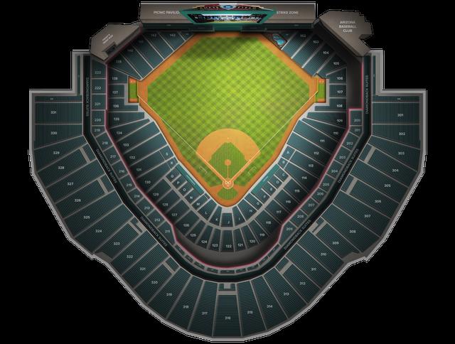 Map Of Arizona Diamondbacks Stadium.San Francisco Giants At Arizona Diamondbacks At Chase Field Tickets