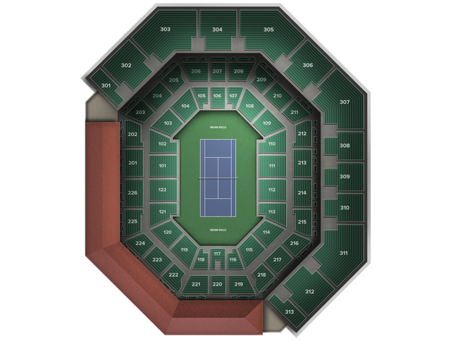 Bnp Paribas Open At Stadium 2 Tickets Wednesday March 14 At 1058 - Us-open-tennis-grounds-map
