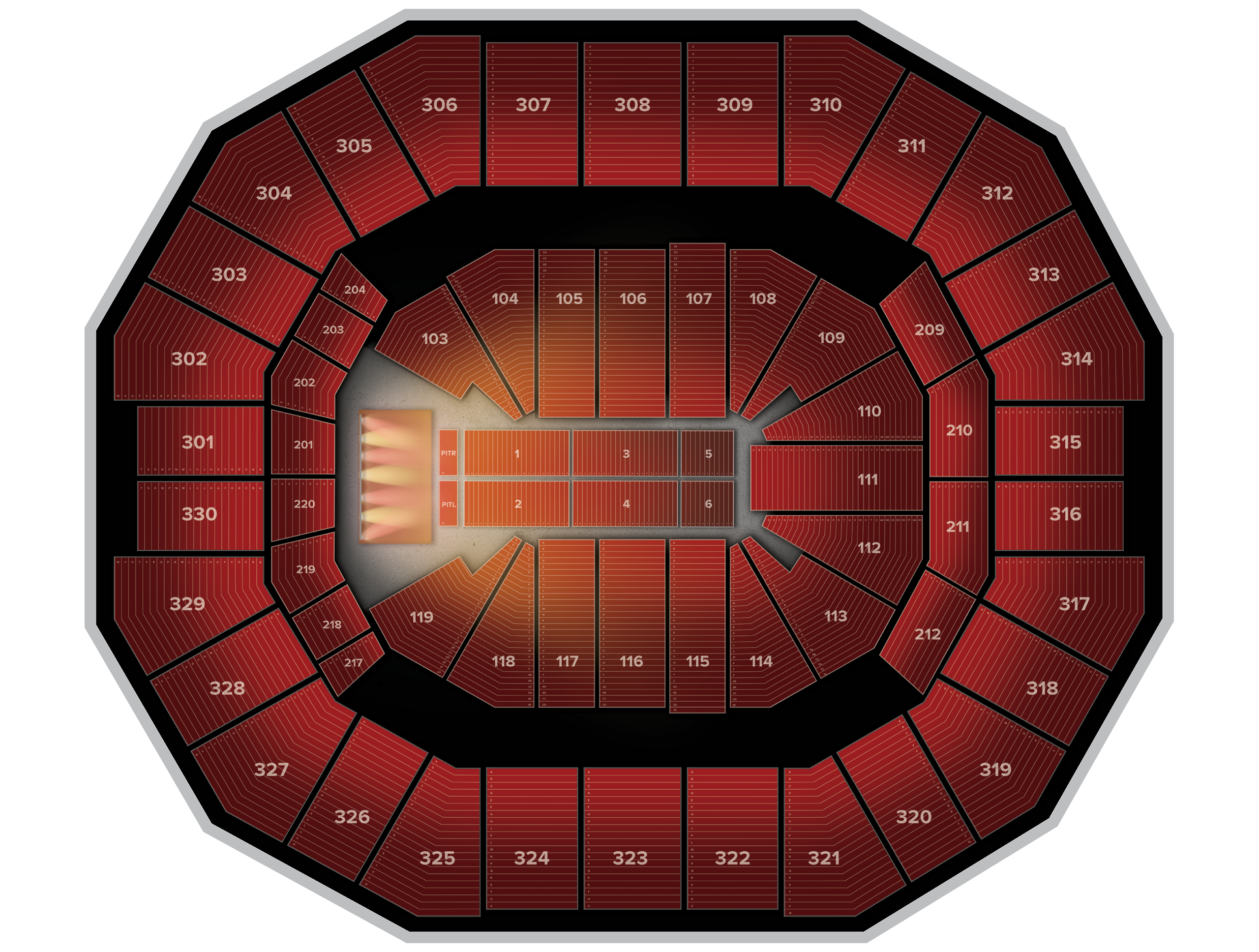 KFC Yum! Center Tickets