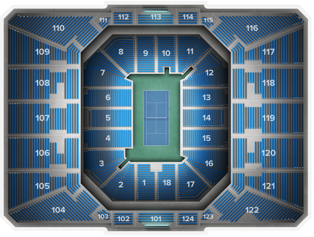 Us Open Tennis Championship At Louis Armstrong Stadium Tickets From - Us-open-tennis-location-map