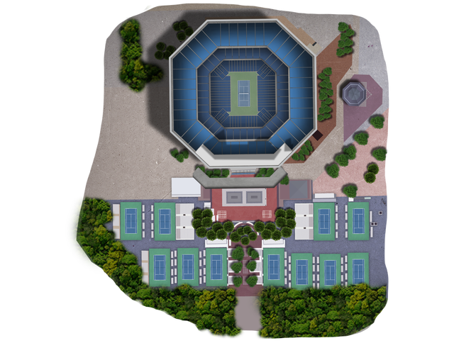 Us Open Tennis Championship At National Tennis Center Tickets - Us-open-tennis-center-map
