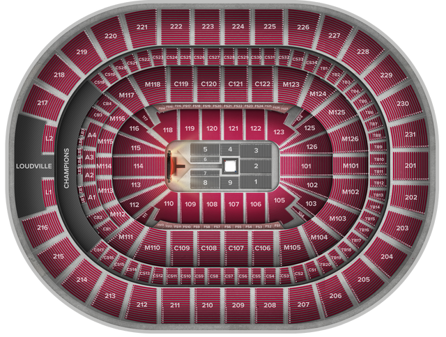 WWE Raw at Quicken Loans Arena Tickets, Monday, December 11 at 7:30 Quicken Loans Arena Seating Map on