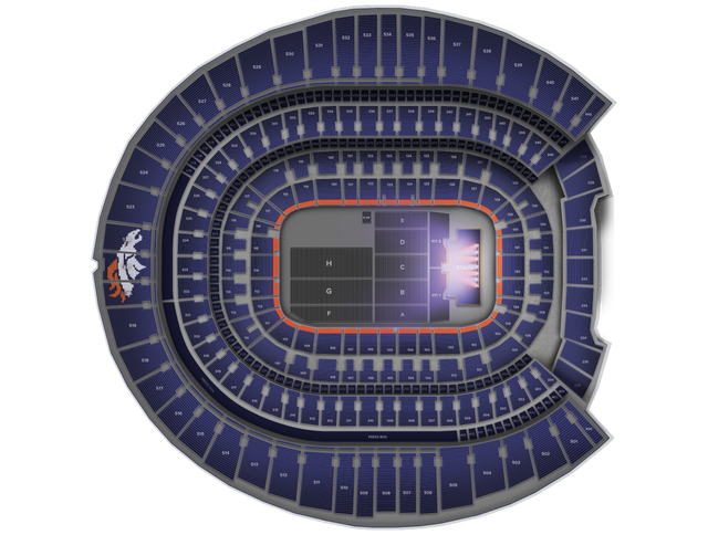 Luke Bryan Invesco Field Seating Chart Broncos Stadium At Mile
